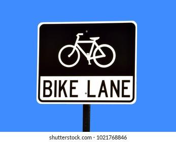 Bike lane road sign background