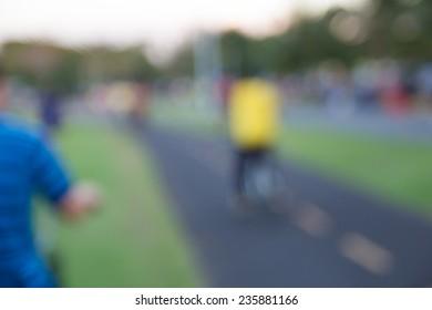 Bike lanes for bicycles blur