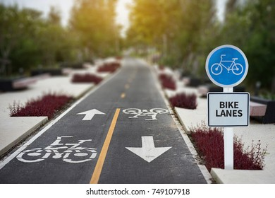 bike lanes Man On Bike bicycle lane