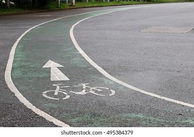 Bike lanes in the park