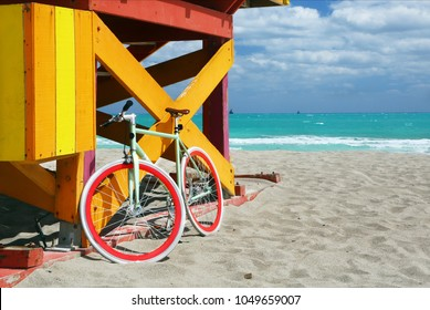 Bike & lifeguard station in Miami Beach