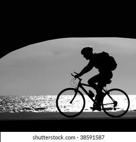 Bike on a promenade