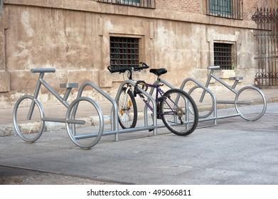 bike parking in Murcia, Spain
