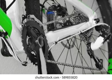 bike parts, chain, shock absorber, wheel, frame, mountain bike, brain, bike parts, steering, shock absorber, wheel, frame, saddle, mountain biking,