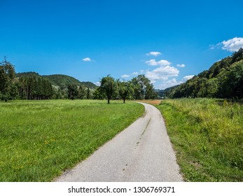 Bike path in the Danube valley