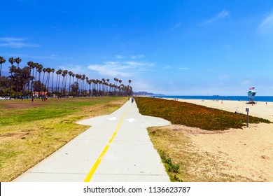 Bike path in Santa Barbara, California