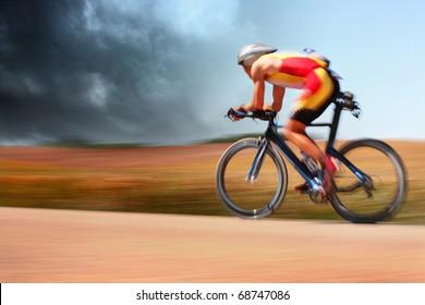 Bike racer (motion blur)