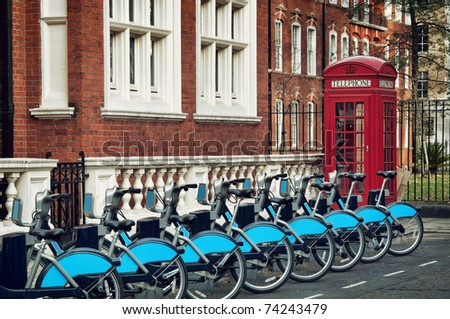 Bike for rent in Lodon ( introduced in July 2010 across London)