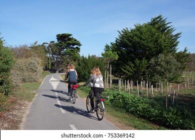 Bike ride in île de Rè island