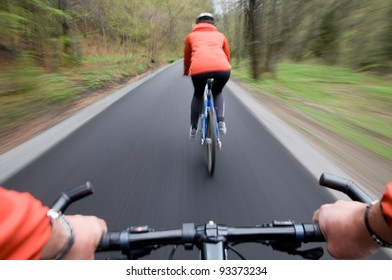 Bike riding (intentional motion blur)