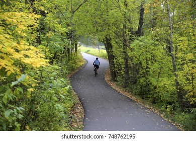 Bike Riding on a Bike Path