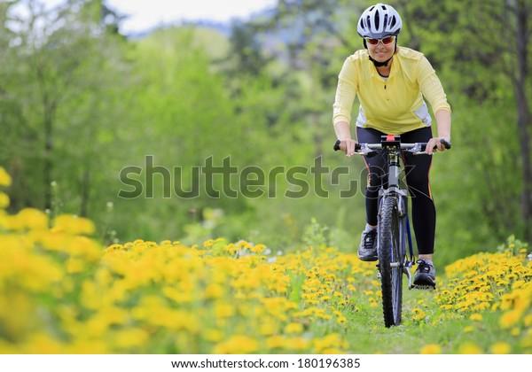 Bike riding - woman on bike