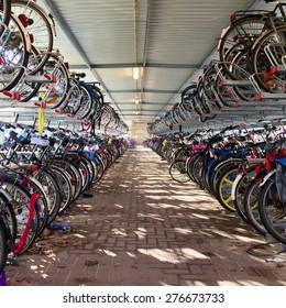 A bike shed.