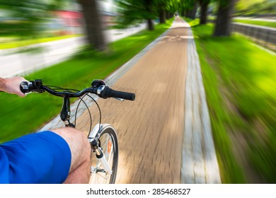 Bike speed on the bicycle road