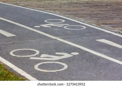 Bike street sign