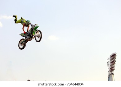Bike Stunt Show: Motor Cycles in action at UB City, Bangalore, India