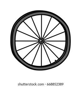 Bike wheel illustration