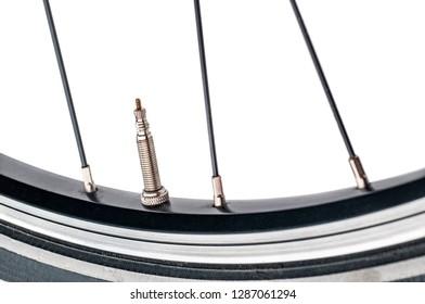 bike wheel tyre tire presta valve spokes nipple rim racing bicycle narrow aero section