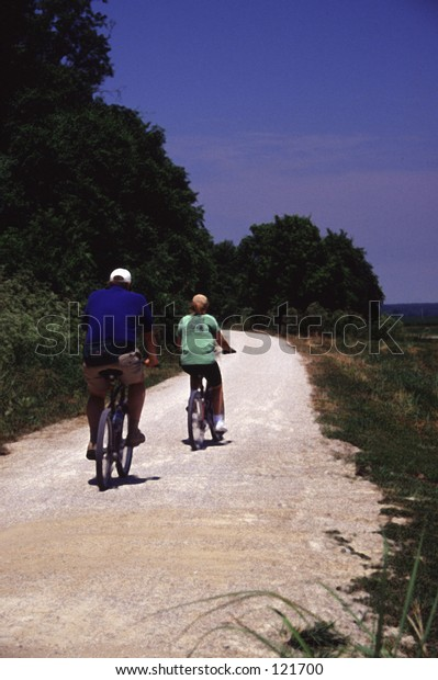bikepath with two cyclists