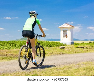 biker, Ceske stredohori, Czech Republic