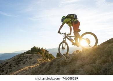 a biker feel the motion of biking