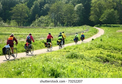 Bikers in the nature