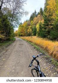 biking in autumn