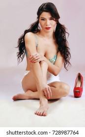Bikini Girl with red Shoes