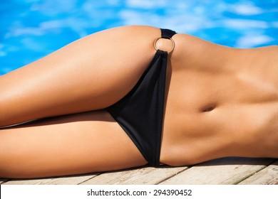 Bikini, Women, Tan.