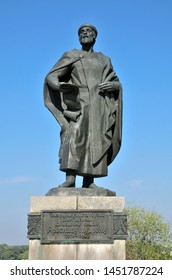Bila Tserkva/Ukraine - September 20, 2018.The monument to Yaroslav the Wise, the founder of the city, was installed in 1983 to the 950th anniversary of the city. Sculptor M. V. Konstantinova.