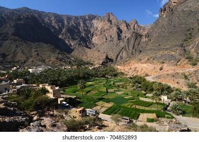 Bilad Sayt village in mountain Hajar, Oman