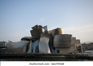 BILBAO, BASQUE COUNTRY,SPAIN – SEPTEMBER 2011: The Bilbao Guggenheim Museum is a museum of modern and contemporary art. It is designed by Canadian-American architect Frank Gehry. Bilbao,