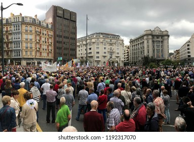 Bilbao manifestation 1/10/2018 of the pensioners. decent pensions