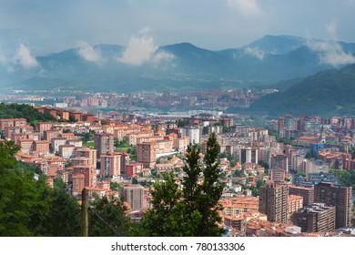 Bilbao skyline, Spain.