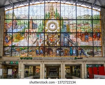 Bilbao, spain; 04 12 19 ; Indalecio Prieto Station arrivals , Bilbao city, Spain
