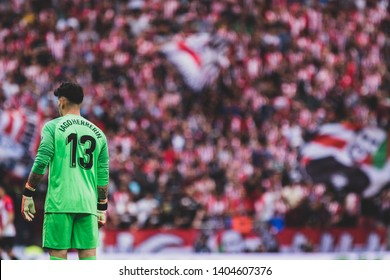 Bilbao, Spain. 06th May, 2019. Pais Vasco. San Mamés. Liga santander. Athletic Bilbao v RC Celta de Vigo: Iago Herrerin (#13) Athletic Bilbao goalkeeper.