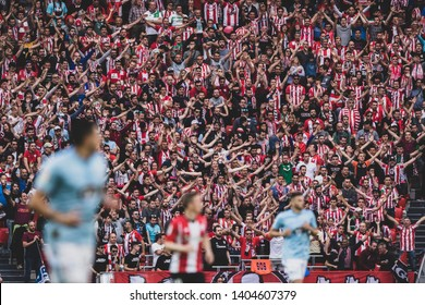 Bilbao, Spain. 06th May, 2019. Pais Vasco. San Mamés. Liga santander. Athletic Bilbao v RC Celta de Vigo: The crowd of San Mames cheering up to the Athletic Bilbao