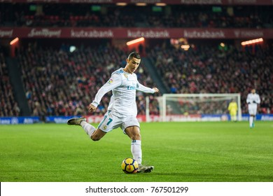 bilbao spain december 02 2017 cristiano ronaldo cr7 real madrid