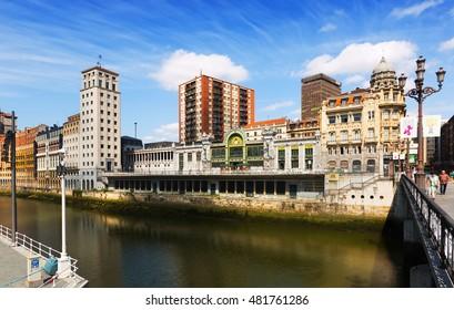 BILBAO, SPAIN - JULY 4, 2015: View of Railway station.  Bilbao, Spain