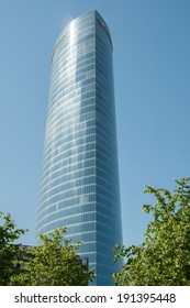 BILBAO, SPAIN - JUNE 12: Iberdrola Tower on June 12, 2013 in Bilbao, Spain. Designed by architect Cesar Pelli is the highest building in Basque Country.