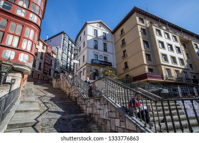 BILBAO, SPAIN -  MARCH 5  2019: The stairs to Etxebarria Park.
