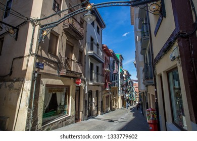 BILBAO, SPAIN -  MARCH 5  2019: Alley in Portugalete.
