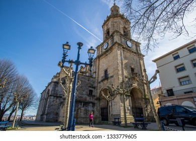 BILBAO, SPAIN -  MARCH 5  2019: The Church of Portugalete.