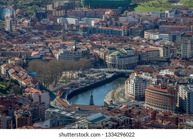 BILBAO, SPAIN - MARCH 7  2019: View from artxanda to the city.
