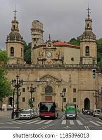 Bilbao, Spain - May 27, 2018: San Nicolas Catedral or cathedral saint nicholas in Bilbao