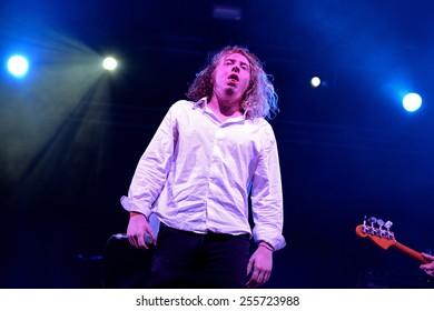 BILBAO, SPAIN - NOV 01: Singer of The Orwells (band) live music show at Bime Festival on November 01, 2014 in Bilbao, Spain.