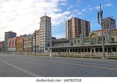 Bilbao, Spain - OCT 13: View of Bilbao oldtown city at Bilbao,Spain on OCT 13, 2019