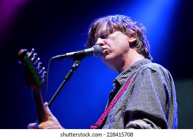 BILBAO, SPAIN - OCT 31: Thurston Moore (musician best known as a singer, songwriter and guitarist of Sonic Youth) live performance at Bime Festival on October 31, 2014 in Bilbao, Spain.