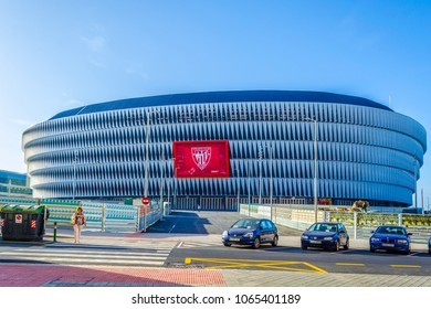 BILBAO, SPAIN, OCTOBER 29, 2014: View of the Mames Stadium in Bilbao, Spain