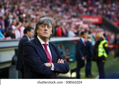BILBAO, SPAIN - OCTOBER 30: Enrique Martin Monreal, Osasuna coach, in action during a Spanish League match between Athletic Bilbao and Osasuna, celebrated on October 30, 2016 in Bilbao, Spain